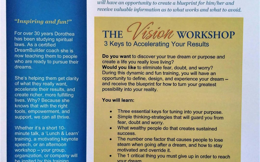 The Vision Workshop – February 10th